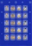 Aland 2002 MNH Sheet Of 20 Christmas Seals Holograms 4 Different - Aland