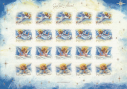Aland 2013 MNH Sheet Of 20 Christmas Seals Angels 4 Different - Aland