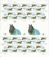 Aland 2015 MNH Complete Sheet Of 36 Indian Silver, Harness Racing Horse - Aland