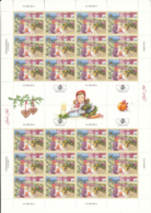 Aland 2014 MNH Complete Sheet Of 24 Christmas Market - Aland