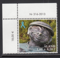 Aland 2013 MNH Garden Statue Blue Ribbon Surtax - Aland