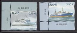 Aland 2010 MNH Scott #301-#302 Set Of 2 Passenger Ferries M/S Skandia, M/S Prinsessan - Aland
