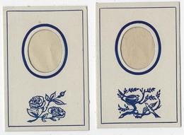 N°1-ancien-carton Avec Insertion Photo-jamais Servi-2 Exemplaires-modèle Ovale- Format 7x10cm-Tb état - Supplies And Equipment