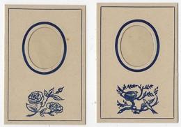 N°2-ancien-carton Avec Insertion Photo-jamais Servi-2 Exemplaires-modèle Ovale- Format 7x10cm-Tb état - Supplies And Equipment