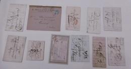 Lot Lettres Anciennes Av 1900 - Marcophilie (Lettres)