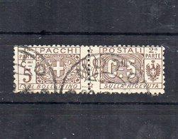 Italia - Regno - 1914/1923 - Pacchi Postali - 5 Centesimi - Nodo Savoia - Usato - (FDC12074) - Paquetes Postales