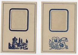 N°3-ancien-carton Avec Insertion Photo-jamais Servi-2 Exemplaires-modèle Rectangulaire- Format 7x10cm-Tb état - Supplies And Equipment