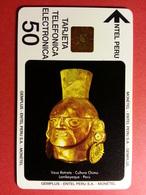 Monetel Gemplus EC-1 Entel Vaso Retrato Gold - 50 Units Field Test Museo Oro 50u Utilisée (CB1217) - Peru