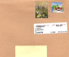 PORTOGALLO - 2018 Lettera Prioritaria Per L'estero Con 2 Francobolli + Etichetta Poste - 1910-... República