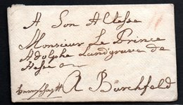 4 Briefe An Adolf Von Hessen-Philippsthal-Barchfeld (1743 - 1803) Mit Intaktem Siegel Und Inhalt - Manuskripte