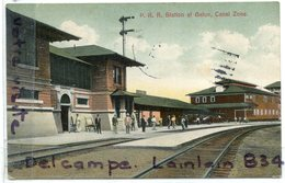 - 21 - Panama - P. R. R.Station At Gatun, Gare, Canal Zone, épaisse, On écrite, TBE, Scans. - Panama