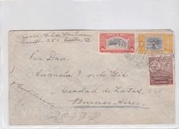 ENVELOPE CIRCULEE 1951 BOLIVIA TO ARGENTINE MIXED STAMPS  - BLEUP - Bolivië