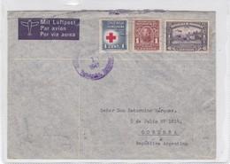 ENVELOPE AIRMAIL CIRCULEE 1941 HONDURAS TO ARGENTINE MIXED STAMPS BANDELETA PARLANTE  - BLEUP - Honduras