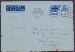 GREAT BRITAIN UK GB - Postal History, 6p Aeroplane Aerogramme Stationery, Used 29.1.1974 From FINCHLEY CHURCH END - Interi Postali