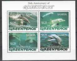 1997 Samoa - Dolphins 26 Th Greenpeace Anniversary - MS MNH** MiNr. 860 - 867 (Block 62) (kk) - Samoa (Staat)