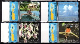 2003 Solomon Islands - Unesco Heritage East Rennel - Orchids, Local Tribes Monarch Bird - MNH** MiNr. 1027 - 1030 (kk) - Salomoninseln (Salomonen 1978-...)
