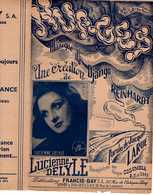 40 60 LUCIENNE DELYLE PARTITION DJANGO REINHARDT NUAGES LARUE ILL SCHARDNER ORIGINAL IMPRIMÉ EN 1942 - Music & Instruments