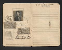 1924 CEDULA PESSOAL IDENTIDADE Mulher Natural De Lisboa SELOS F. Identity Card Woman Document PORTUGAL 1924 Tax STAMPS - Documents Historiques