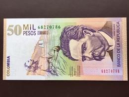 COLOMBIA P455 50000 PESOS 25.08.2009 UNC - Colombie