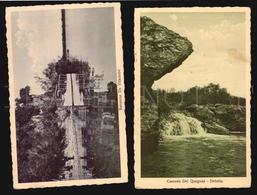 Uruguay Paysandu Barrancas Del Vilardebo Queguay Waterfall Ship Boat 2 Postcards Ca1910 (w5-112) - Uruguay
