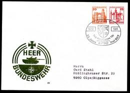 Bund PU265 B1/001 PANZER BUNDESWEHR Sost.Unna 1981 - Militaria
