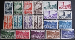 FD/2449 - 1955 - ANDORRE - N°138 à 153 NEUFS**/* (N°145-146-153 NEUFS*) - Cote : 212,80 € (SERIE COMPLETE) - French Andorra