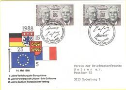 GERMANIA - GERMANY - Deutschland - ALLEMAGNE - 1988 - 25 Jahre Vertrag Deutsch-Französische Zusammenarbeit - FDC - Bonn - Gemeinschaftsausgaben