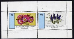 Bernera 1982 Flowers #03 (Anemone & Muscari) Perf  Set Of 2 Values (40p & 60p) Unmounted Mint - Local Issues