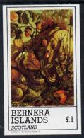 Bernera 1982 Nature Table (Snails, Fungi, Strawberries) Imperf Souvenir Sheet (�1 Value) Unmounted Mint FUNGI    FRUIT - Local Issues