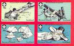Bernera 1998 19th World Scout Jamboree Opt'd In Gold On 1982 75th Anniversary Of Scouting Imperf Set Of 4 Unmounted Mint - Local Issues
