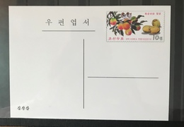 KOREA N. 2014 Postal Stationery PSC Birds Sparrows Fruit Mint - Uccelli