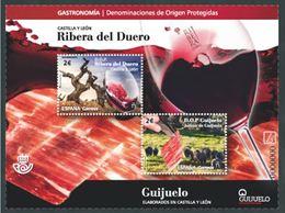 ESPAGNE SPANIEN SPAIN ESPAÑA  2018 HB D.O.P. CASTILLA Y LEÓN- RIBERA DEL DUERO ED HB-5250-51 - 2011-... Nuovi & Linguelle