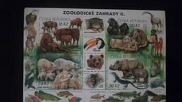 L) 2017 CZECH REPUBLIC, ZOOLOGICAL, ANIMALS, NATURE PRESERVATION, TOUCAN, BIRD, BEAR, FISH, MONKEY, LION, FAUNA, MNH - Unused Stamps