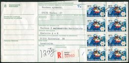 Finland 1975 Vantaa-Vanda Registered Packet Parcel Card + Label Bulletin D'expédition Colis Begleitadresse Paketkarte - Finland