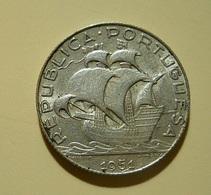 Portugal 2 1/2 Escudos 1951 Silver - Portugal