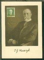 50 H. Masaryk Auf Maximum-Kte - Tchécoslovaquie