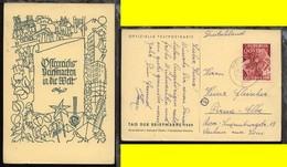 Tag Der Briefmarke 1949 Auf Entsprechender Sonder-PK Ab Wies 20.12.49 Nach Pirna - Autriche