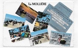 (RECTO / VERSO) LA MOLLIERE EN 1966 - N° 81 - MULTIVUES - TELEGRAMME - BEAU CACHET - FORMAT CPA VOYAGEE - France