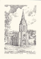 47-----MONTESQUIEU--église---( Illustration Yves DUCOURTIOUX )-voir 2 Scans - Andere Sammlungen