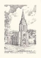 47-----MONTESQUIEU--église---( Illustration Yves DUCOURTIOUX )-voir 2 Scans - Other Collections