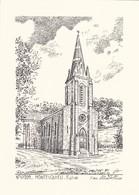 47-----MONTESQUIEU--église---( Illustration Yves DUCOURTIOUX )-voir 2 Scans - Autres Collections