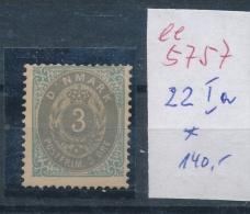 Dänemark   Nr. 22 Ia  * (  Ee5757 ) Siehe Scan....! - 1864-04 (Christian IX)
