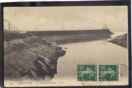 14331 . HONFLEUR . LE BASSIN DE CHASSE. LL. (recto Verso)  ANNEE 1909 - Honfleur