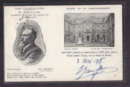 CPA 75 - PARIS Mairie IXème CP 2 Vue Dont BARILLIER Conseiller Municipal Quartier Rochechouart AUTOGRAPHE 1908 TB Verso - District 09