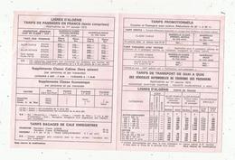 Publicité , 4 Pages , Tarif Bateaux , Automobiles Et Passagers ,1973 , FRANCE-ALGERIE, 2 Scans - Advertising