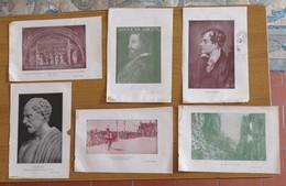 6 PICCOLE STAMPE DI CAPRI MENESTRELLO S. FRANCESCO BYRON DEMOSTENE ARIOSTO - - Stampe