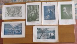 6 STAMPE PICCOLE DI MOSE' CAPELLI IL FIUME GIORDANO LA JUNGFRAU MANZONI CANOVA - - Stampe