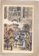 ILLUSTRATEUR FELT  - CPA  COLORISEE -  ROUEN TEMPS DE GUERRE - Place De La Cathédrale - DELC1 - - Autres Illustrateurs