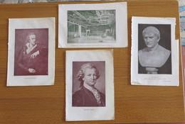 N° 4 PICCOLE STAMPE DI V. ALFIERI E. LESSING CICERONE SALA CONSIGLIO VENEZIA - - Stampe