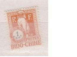 INDOCHINE      N°  YVERT  :  TAXE 33    NEUF AVEC  CHARNIERES      ( Charn   022   ) - Indochina (1889-1945)